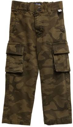 Il Gufo Camouflage Print Gabardine Cargo Pants