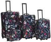 Rockland Las Vegas Black 4-piece Expandable Luggage Set
