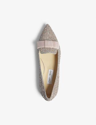Jimmy Choo Gala glitter pointed-toe flats