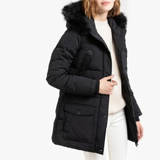 Schott Camille 2W Padded Puffer Jacket with Faux Fur