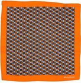 Hardy Amies Orange Hexagon Geo Pocket Square