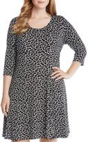 Karen Kane Plus Abstract Print Dress