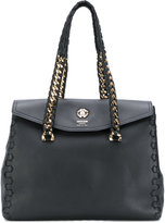 Roberto Cavalli chain handles tote - women - Calf Leather/metal - One Size