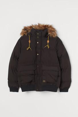 H&M Hooded Puffer Jacket - Black