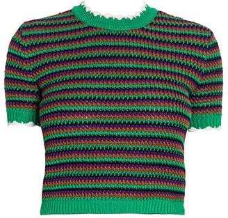 Miu Miu Crochet Cropped Tee