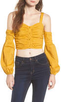 Tularosa Charlie Cold Shoulder Crop Top