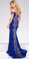Jovani Beaded Waterfall Off the Shoulder Prom Dress