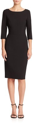 Carolina Herrera Double-Face Sheath Dress