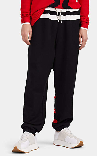 Marni Men's Logo-Appliquéd Cotton Jogger Pants - Black