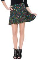 Bj Posy Crinkle Chiffon Mini Skirt