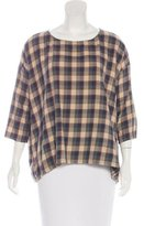The Great Oversize Plaid Blouse