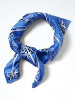 Banana Republic Paisley Silk Small Square Scarf