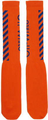 Off-White Off White Orange and Blue Diag Socks