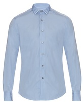 Lanvin Contrast-trim Cotton-poplin Shirt