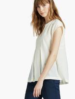 Lucky Brand Silk Short Sleeve Blouse