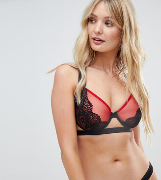 Wolfwhistle Wolf & Whistle Black Cross Back Bra B - G Cup