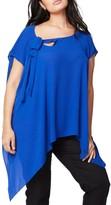 Rachel Roy Plus Size Women's Vintage Bow Side Drape Blouse