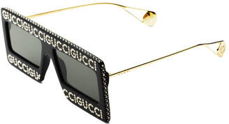 Made In Italy 60mm Oversized Designer Sunglasses