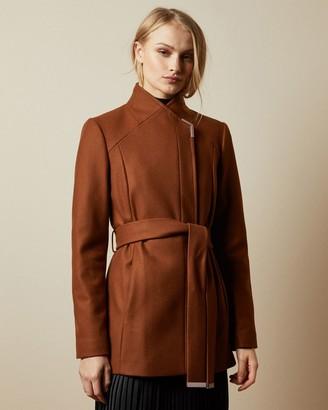 Ted Baker Short Belted Wool Wrap Coat