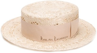 Ruslan Baginskiy Embroidered Logo Straw Hat