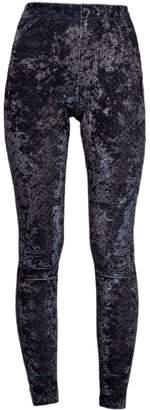 J V D B Larvotto La Parisienne High Waisted Leggings In J-V-D-B Ultra-Fine Liquid Shimmer Compression Fabric