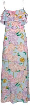 Hayley Menzie Luna Flora Maxi Frill Dress