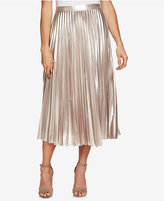 1 STATE 1.state Metallic Pleated Midi Skirt