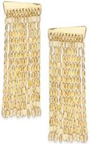 INC International Concepts Gold-Tone Chain Fringe Linear Drop Earrings, Created for Macy's