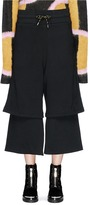 Aalto Drawstring layered cotton jersey culottes