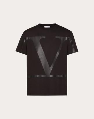 Valentino Vlogo Signature T-shirt Man Black 100% Cotone L