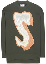 Acne Studios Karvel Cotton-blend Sweatshirt With Appliqué