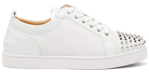 detailed look 32111 5aaff Ac Louis Junior Spikes Mesh And Leather Trainers - Mens - White