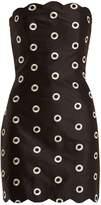 Osman Nesha circle-embroidered strapless dress