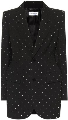 Balenciaga Embellished wool blazer