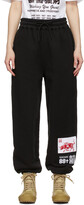 Thumbnail for your product : SSENSE WORKS SSENSE Exclusive 88rising Black Patch Lounge Pants
