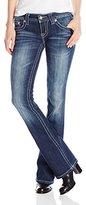 Miss Me Junior's Embellished Paisley Bootcut Denim Jean