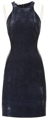Stella McCartney Eliana velvet and mesh dress