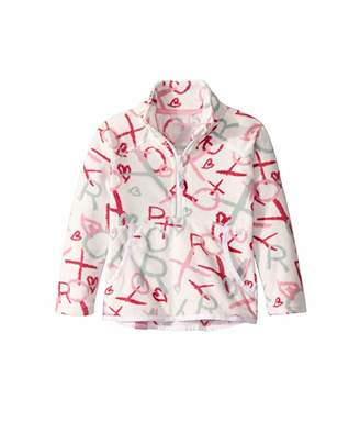 Roxy Kids Cascade Fleece (Toddler/Little Kids) (Bright White School Day) Girl's Sweatshirt