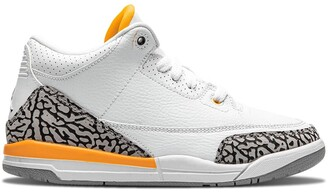 "Nike Kids Air Jordan 3 ""Laser Orange"" sneakers"