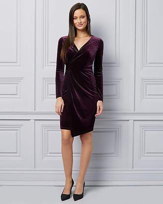 Le Château Velvet Wrap-Like Cocktail Dress