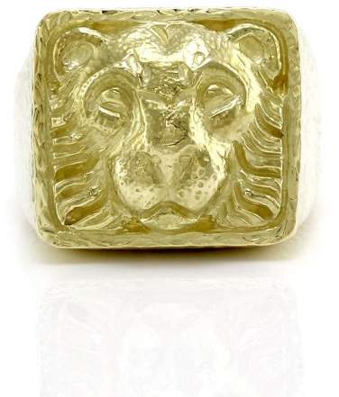 David Webb 18K Yellow Gold Ancient World Lion Ring Size 9.75