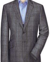 Charles Tyrwhitt Slim fit navy check luxury wool linen jacket