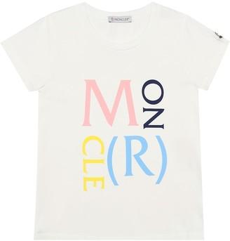 Moncler Enfant Logo stretch-cotton T-shirt
