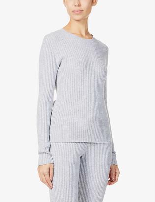 Skin Mabel cotton and cashmere-blend jumper