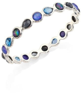 Ippolita Rock Candy Sterling Silver & Multi-Stone All-Around Bangle Bracelet