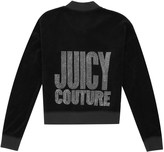 Juicy Couture Girls Logo Velour Crystal Couture Westwood Jacket