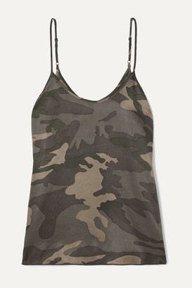 ATM Anthony Thomas Melillo Camouflage-print Silk-satin Camisole - Army green