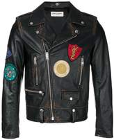 Saint Laurent classic multi-patch motorcycle jacket