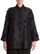 Caroline Rose Made In The Shade Fringed Jacquard Jacket