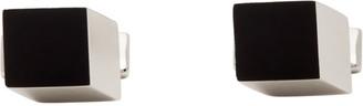 HUGO BOSS Black and Silver E-Cube Cufflinks